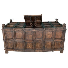 Hindu Wooden Baul with Secret Compartments