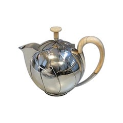 Hingelberg Sterling Silver Tea Pot designed by Svend Weihrauch