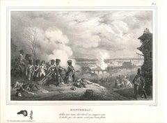 Napoléon à Montereau - Original Lithograph by H. Bellange - 1828