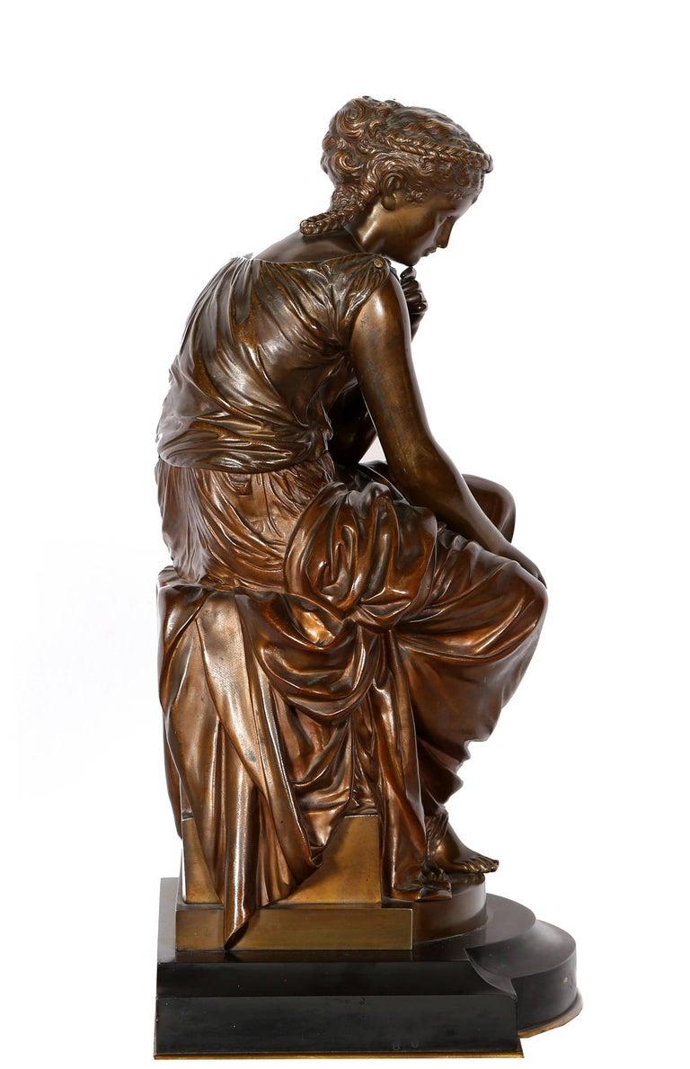Hero, Art Nouveau Bronze Sculpture by Moreau For Sale 1