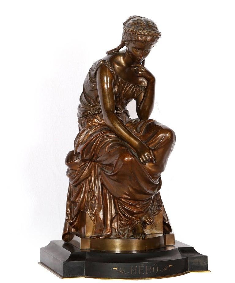 Hero, Art Nouveau Bronze Sculpture by Moreau For Sale 2