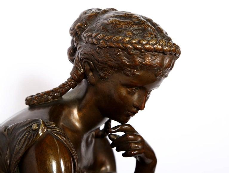 Hero, Art Nouveau Bronze Sculpture by Moreau For Sale 4