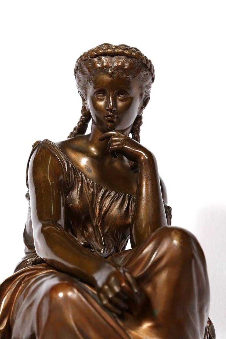 Hero, Art Nouveau Bronze Sculpture by Moreau For Sale 5