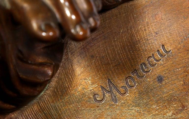 Hero, Art Nouveau Bronze Sculpture by Moreau For Sale 6