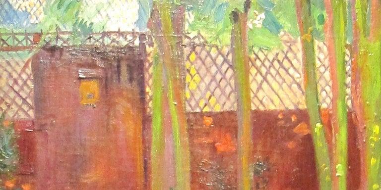A Impressionist Garden Portrait 'Femme dans un Jardin' by Hippolyte Pettijean 2