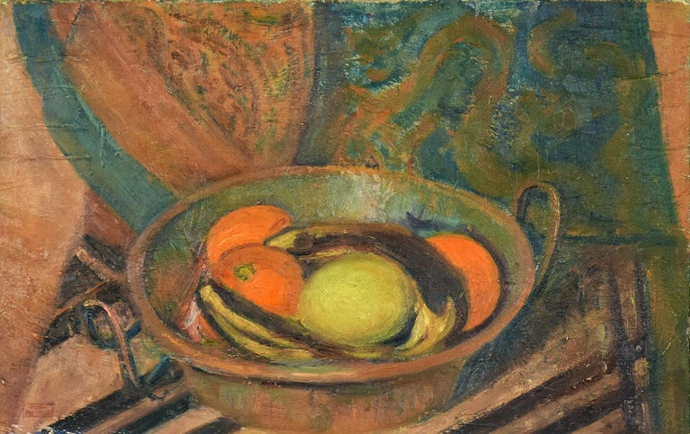 Nature Morte aux Fruits, HIPPOLYTE PETITJEAN - Post-Impressionist, Still Life - Painting by Hippolyte Petitjean