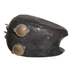 Hipster Black Vintage Motorcycle Gas Tank Dual Cap Mod Sportster, 1960s