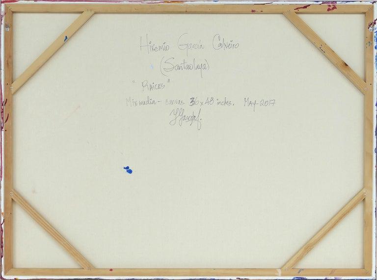 Hiremio Garcia Santaolaya Abstract Painting, Cuban American Artist For Sale 5