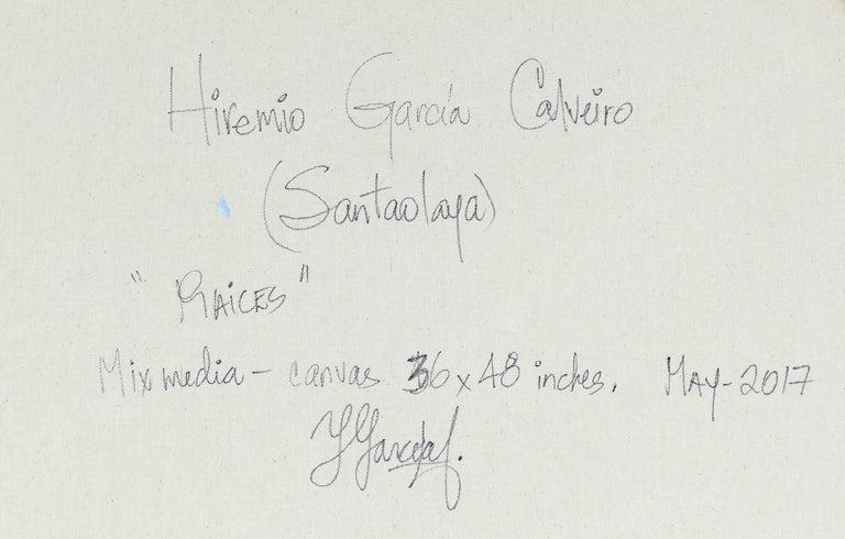 Hiremio Garcia Santaolaya Abstract Painting, Cuban American Artist For Sale 6