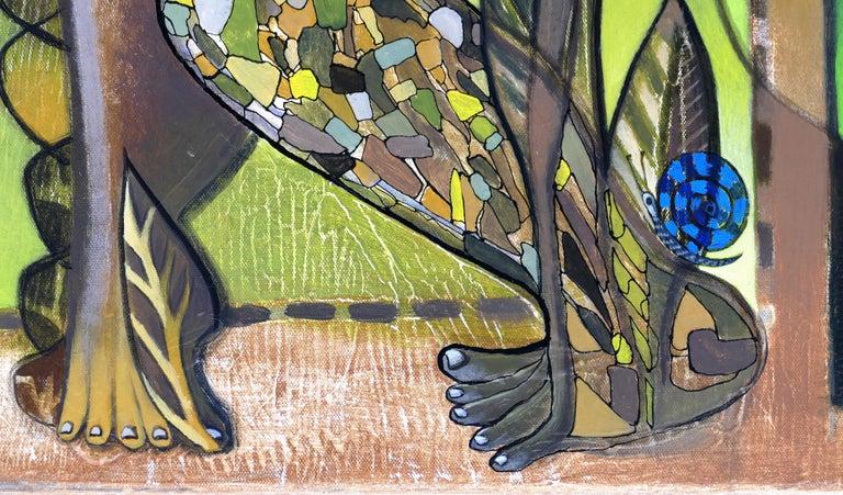 Hiremio Garcia Santaolaya Abstract Painting, Cuban American Artist For Sale 1
