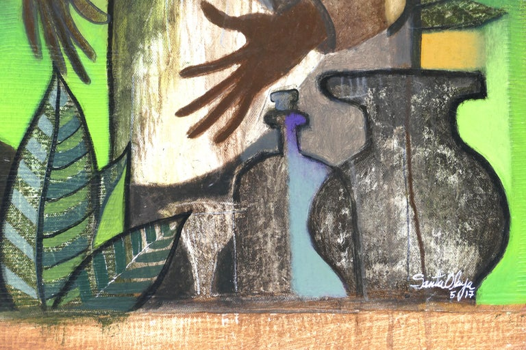 Hiremio Garcia Santaolaya Abstract Painting, Cuban American Artist For Sale 2