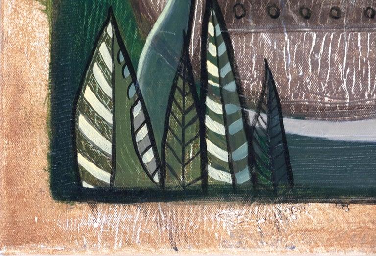 Hiremio Garcia Santaolaya Abstract Painting, Cuban American Artist For Sale 3
