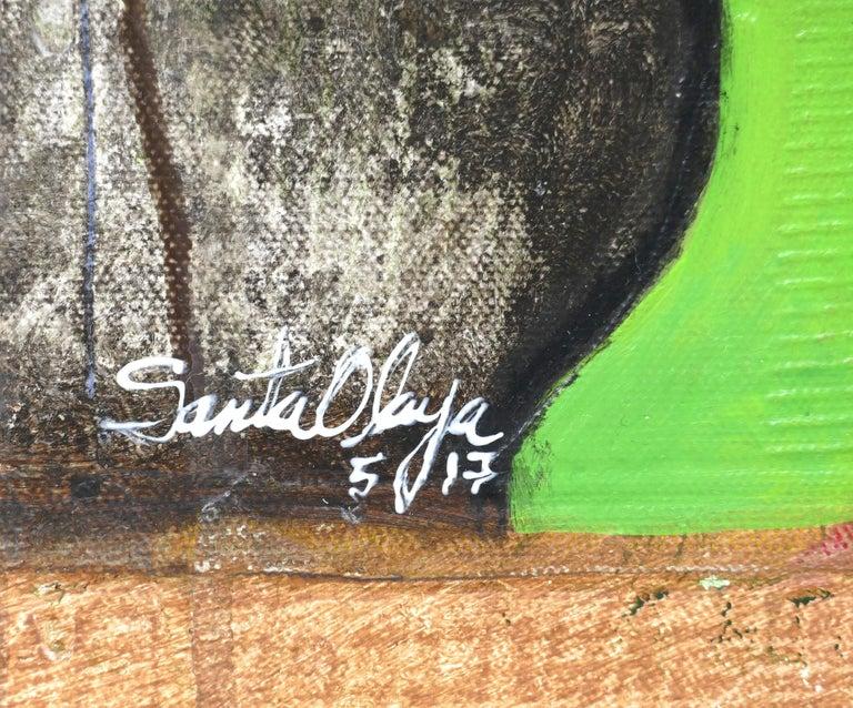 Hiremio Garcia Santaolaya Abstract Painting, Cuban American Artist For Sale 4