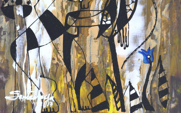 Hiremio Garcia Santaolaya Abstract Painting, Cuban American Artist In New Condition For Sale In Miami, FL