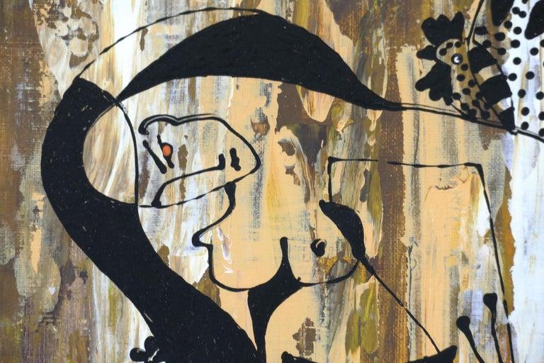 Contemporary Hiremio Garcia Santaolaya Abstract Painting, Cuban American Artist For Sale