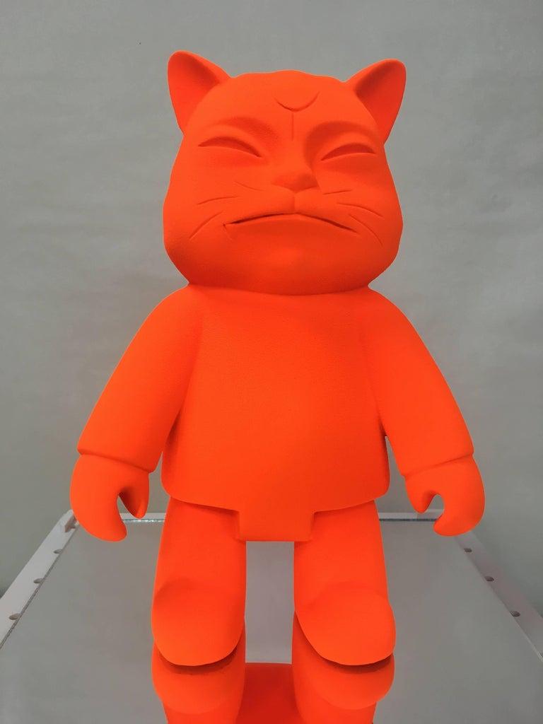 "HIRO ANDO Abstract Sculpture -  ""ROBOCAT MONOLOGY"" original sculpture"