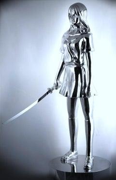 satomi.n, serie battle royale of 4 school girtls,