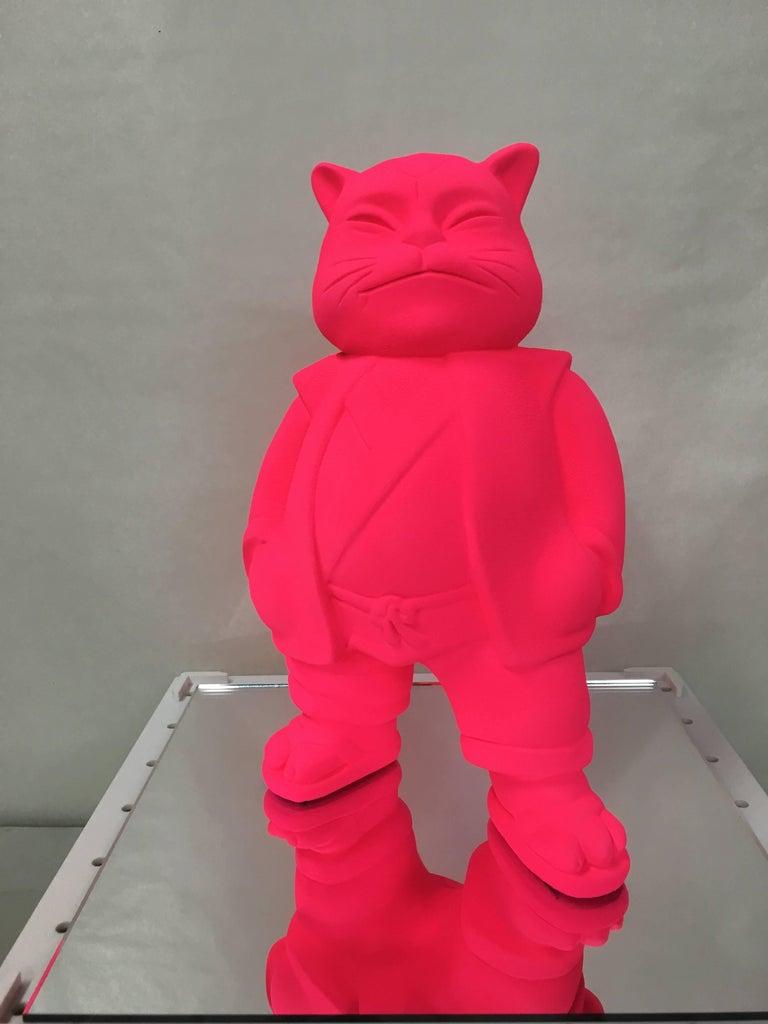 "HIRO ANDO Figurative Sculpture - URBANCAT MONOLOGY"" original sculpture"