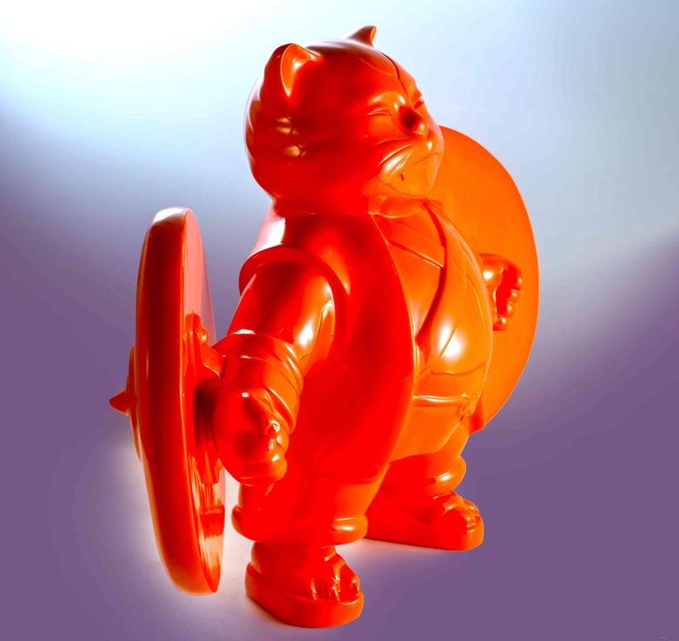 warriorcat - Contemporary Sculpture by HIRO ANDO