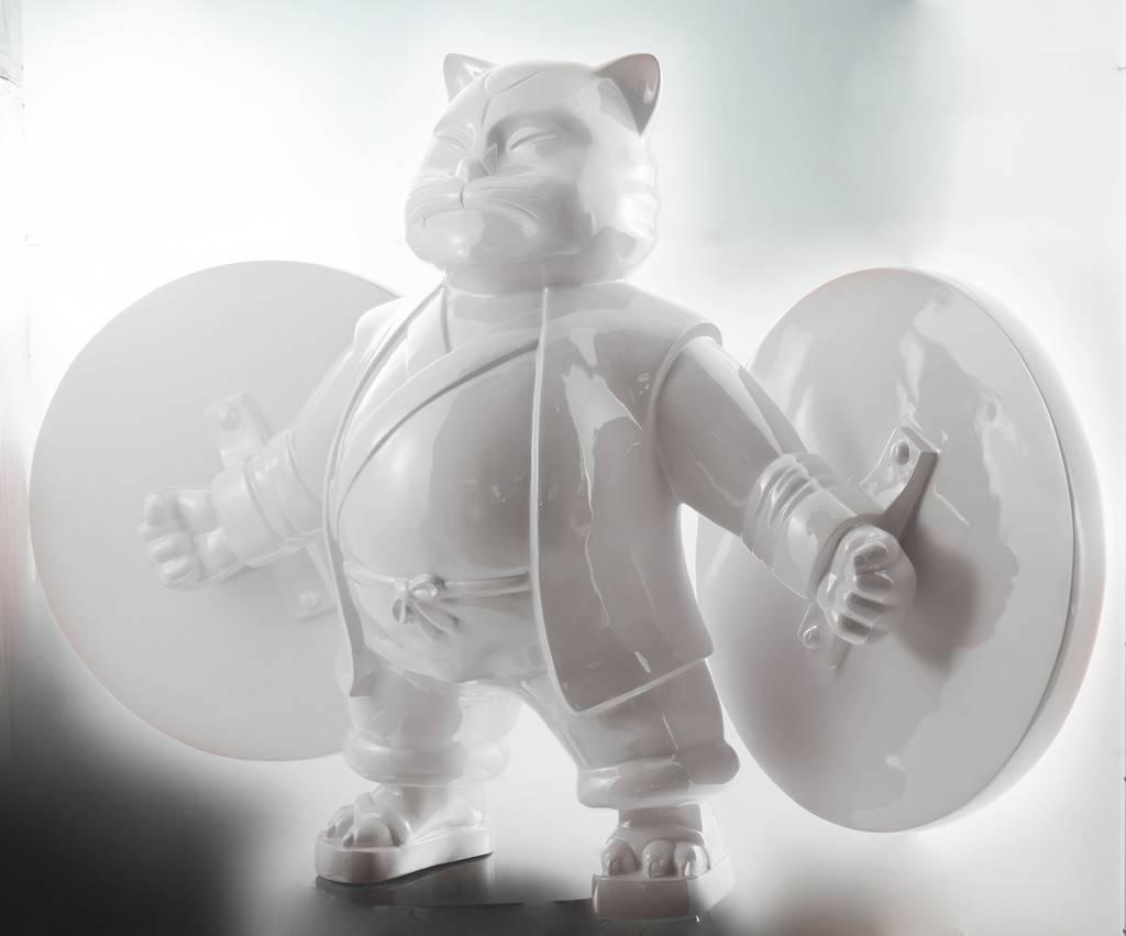 """""""WARROIR CAT"""" 2011 original sculpture"""
