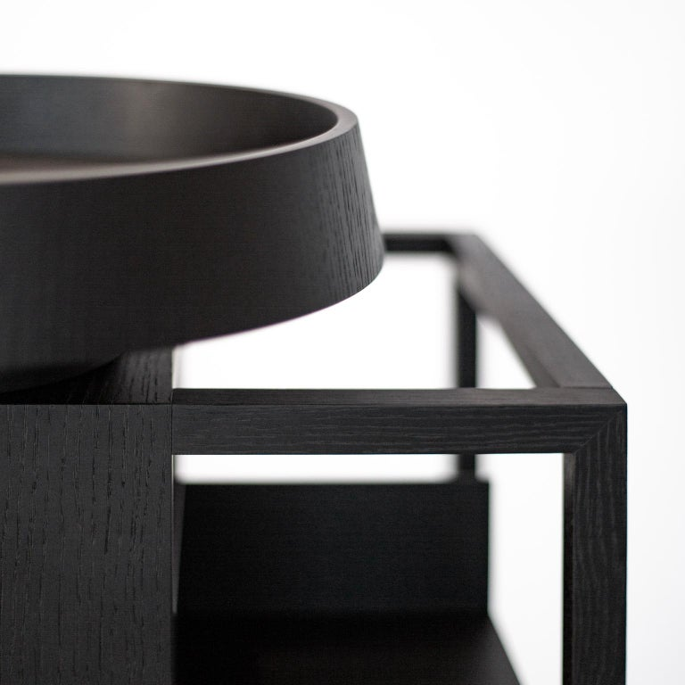 Hiro Contemporary Bookcase or Cabinet in Oak Wood 5