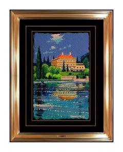 Hiro Yamagata Original French Landscape Painting Gouache Signed Olympic Artwork