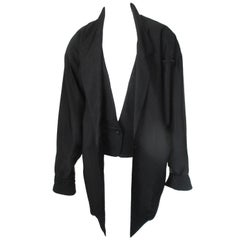 Hiroko Koshino Japan Black Design Jacket 1980