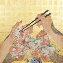 """Self Consuming Vessel"", contemporary Japanese painting natural pigments"