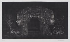 Women Temple - Original handsigned etching - Numbered / 115