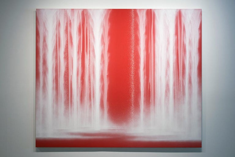 Waterfall - Contemporary Painting by Hiroshi Senju