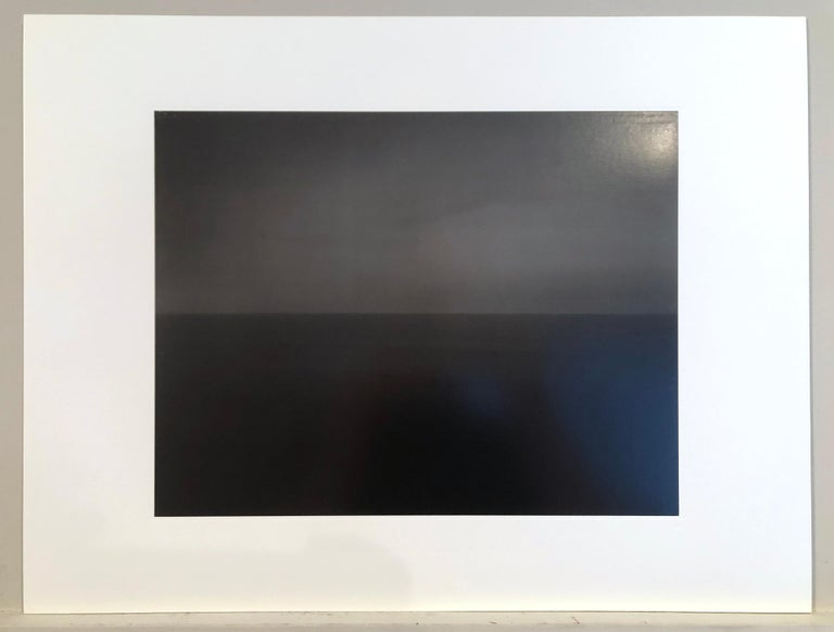 Hiroshi Sugimoto, Time Exposed 340, Lithograph, 1991; photographic seascape - Black Landscape Photograph by Hiroshi Sugimoto