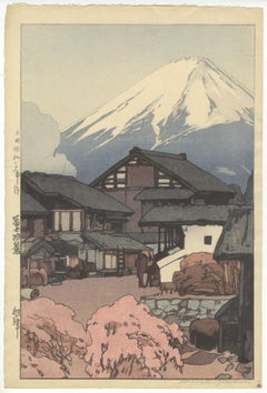 Hiroshi Yoshida, Artworks, Mt Fuji, Original Japanese Woodblock Print, Landscape