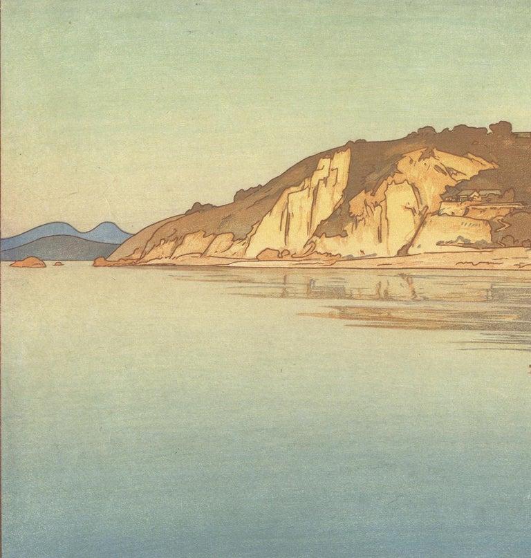 Hiroshi Yoshida, Japanese Woodblock Print, Sailing Boat, Sea Landscape, Ocean For Sale 3