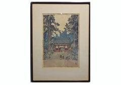 """Toshogu Shrine"" Japanese Woodblock Print"