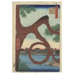 Hiroshige, Ueno Park, Moon Pine, Famous Views of Edo, Landscape, Japanese Art