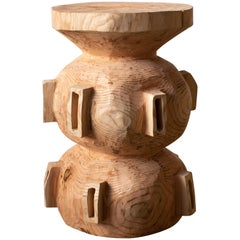 Hiroyuki Nishimura and Sculptural Stool Side Table 15-2 Tribal Glamping