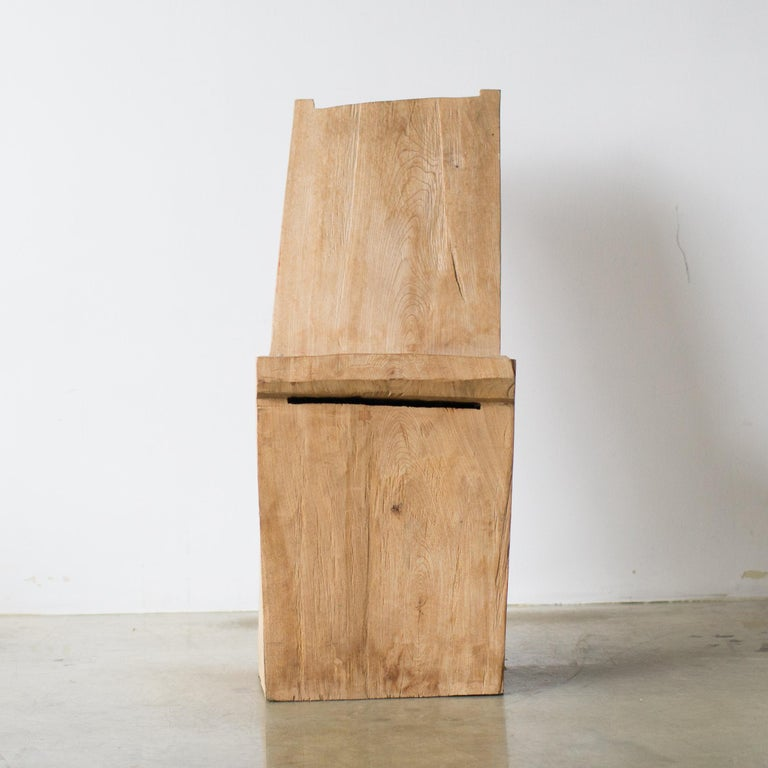 Contemporary Hiroyuki Nishimura and Zogei Furniture Sculptural Chair Primitive glamping For Sale