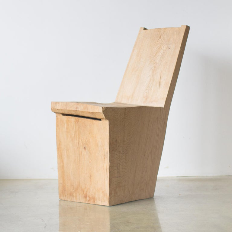 Wood Hiroyuki Nishimura and Zogei Furniture Sculptural Chair Primitive glamping For Sale