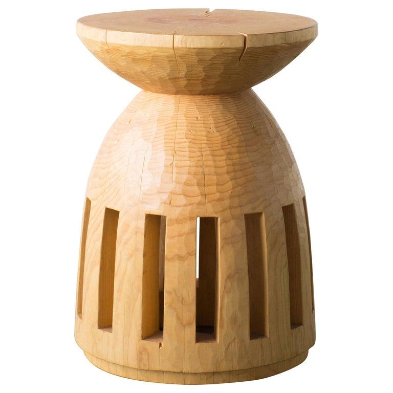 Hiroyuki Nishimura and Zogei Furniture Sculptural Stool 3 Tribal Glamping For Sale