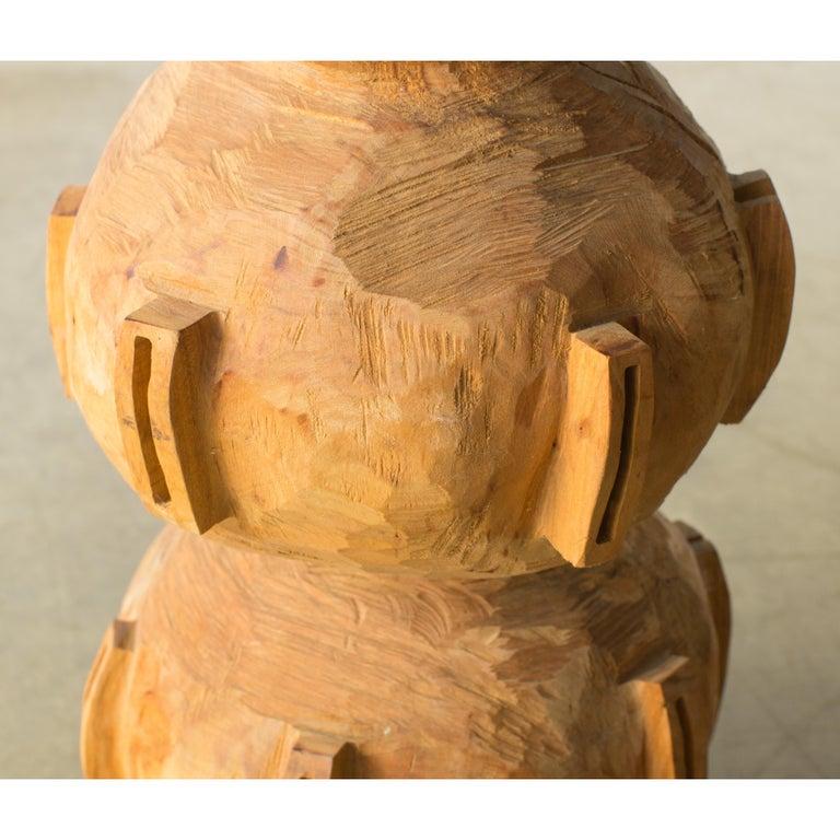 Hiroyuki Nishimura and Zogei Furniture Sculptural Stool15 Tribal Glamping For Sale 7