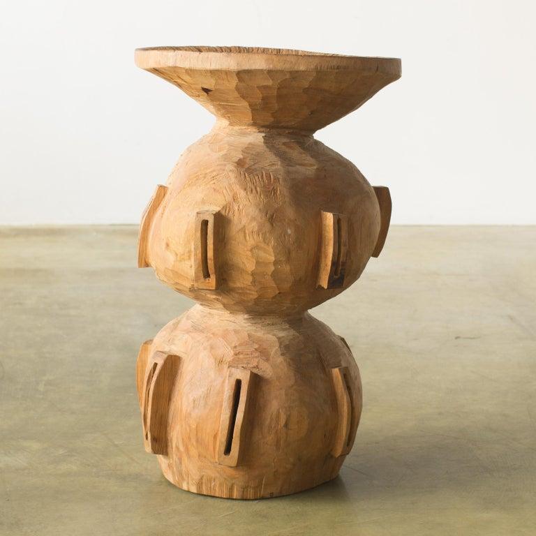 Japanese Hiroyuki Nishimura and Zogei Furniture Sculptural Stool15 Tribal Glamping For Sale