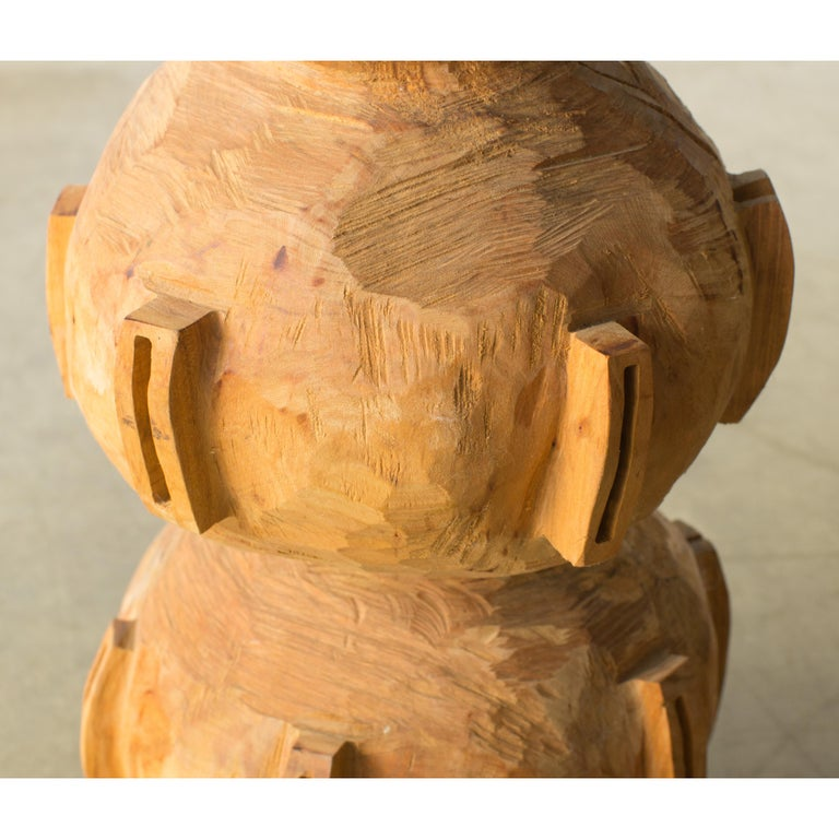 Contemporary Hiroyuki Nishimura and Zogei Furniture Sculptural Stool15 Tribal Glamping For Sale