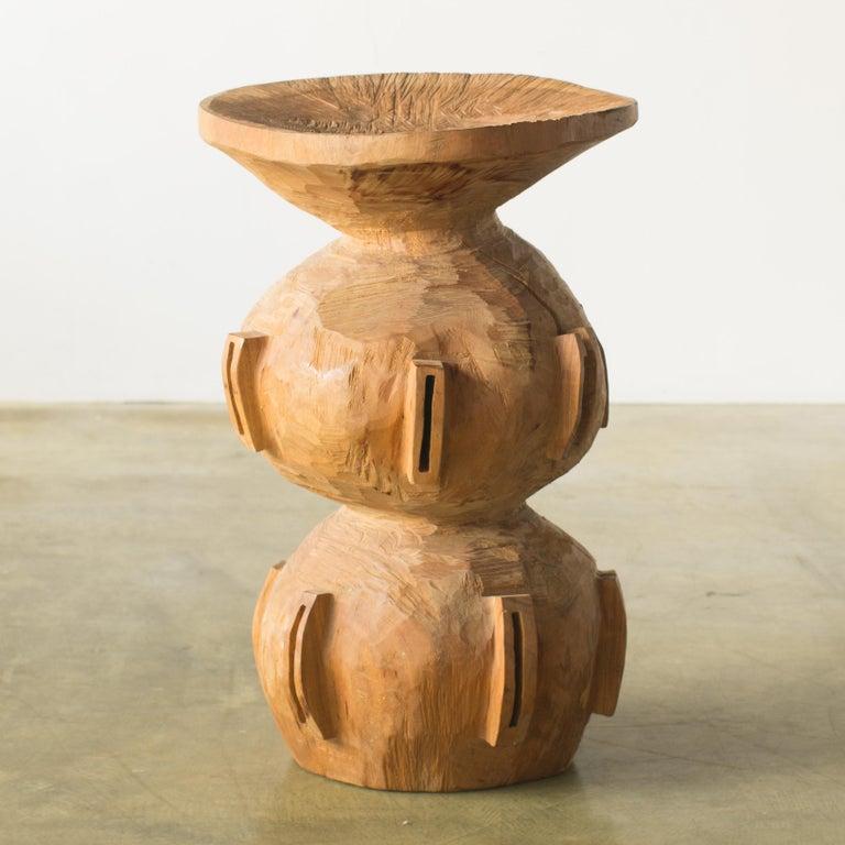 Hiroyuki Nishimura and Zogei Furniture Sculptural Stool15 Tribal Glamping For Sale 2