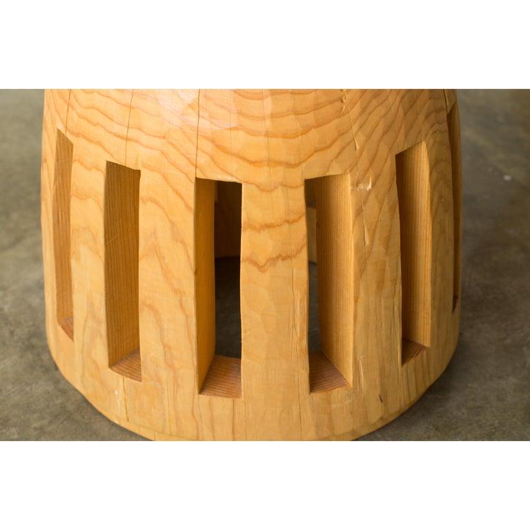Wood Hiroyuki Nishimura and Zogei Furniture Sculptural Stool 3 Tribal Glamping For Sale