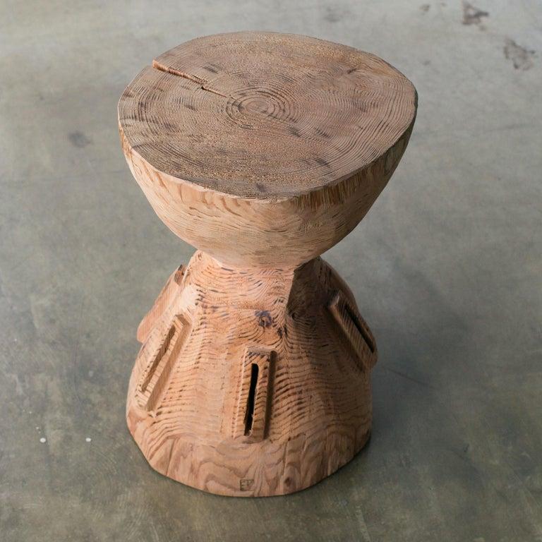 Hand-Carved Hiroyuki Nishimura and Zogei Furniture Sculptural Stool4 Primitive African Art For Sale