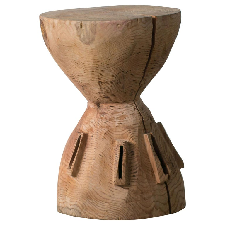 Hiroyuki Nishimura and Zogei Furniture Sculptural Stool4 Primitive African Art For Sale