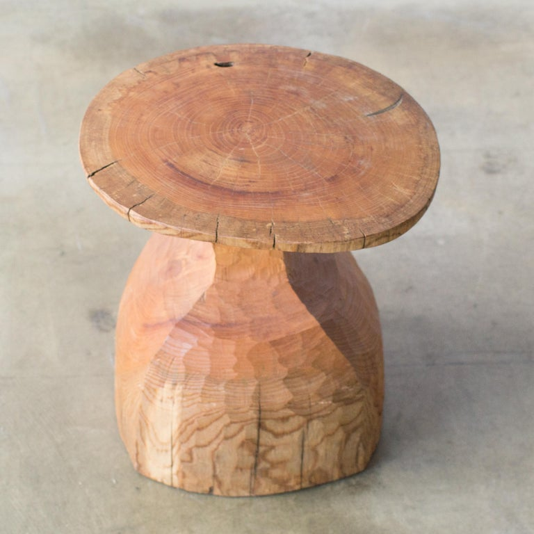 Hand-Carved Hiroyuki Nishimura and Zogei Furniture Sculptural Stool6 glamping African Art For Sale