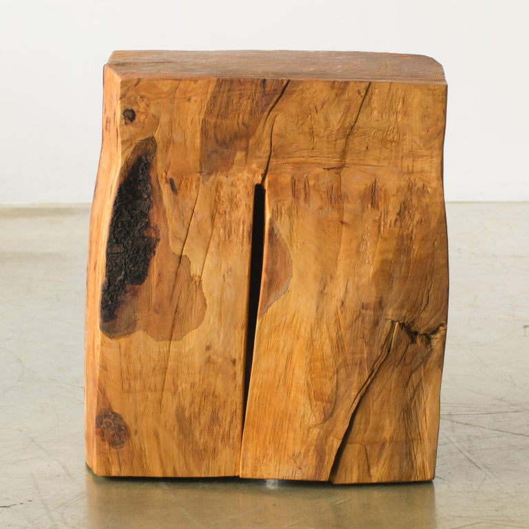Hand-Carved Hiroyuki Nishimura and Zogei Furniture Sculptural Stool9 Tribal Glamping For Sale