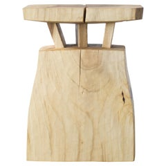 Hiroyuki Nishimura and Zogei Furniture Sculptural wood Stool12 Tribal Glamping
