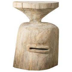Hiroyuki Nishimura and Zogei Furniture Sculptural Wood Stool9-04 Tribal Glamping